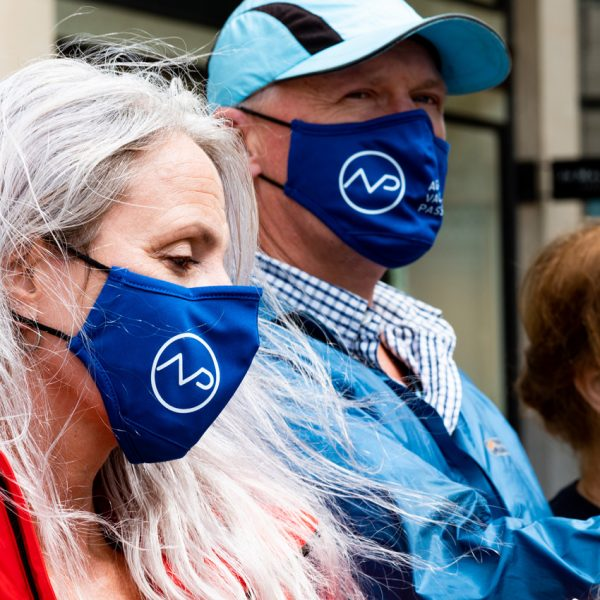 Against Vaccine Passports Protest Mask